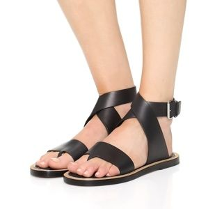NWOB Mailin Ankle Strap Leather Sandal